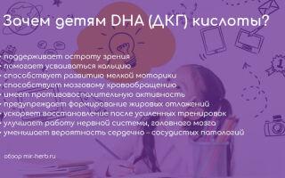 Почему детям для правильного развития необходим дополнительный прием DHA (ДКГ) кислот? Примеры качественных детских добавок на iHerb