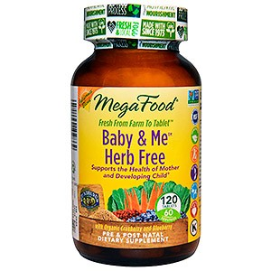 MegaFood Baby Me Herb Free Whole Food Multivitamin Mineral