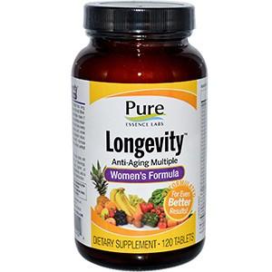 Pure Essence, Longevity, анти-возрастные мультивитамины для женщин