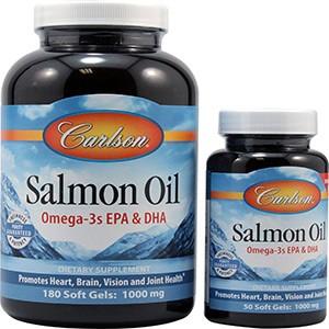 Carlson Labs, Масло лосося, 1000 мг