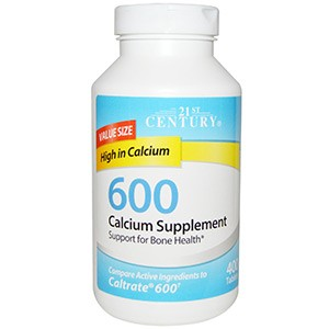 21st Century, Calcium Supplement 600