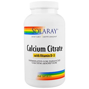 Solaray, Calcium Citrate, with Vitamin D-3