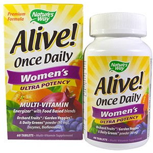 Nature's Way, Alive!, Women's Energy, Multivitamin