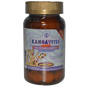 Solgar, Kangavites, Complete Multivitamin & Mineral Children's Formula