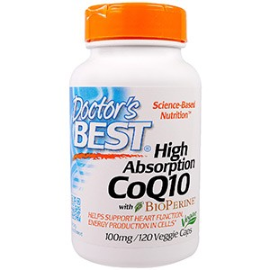 Doctor's Best, CoQ10, с BioPerine, 100 мг, 120 капсул