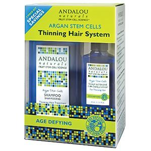 Andalou Naturals, Стволовые клетки аргании, система для редеющих волос