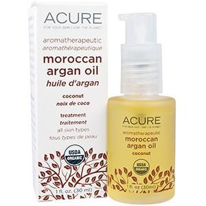 Acure Organics, Марокканское аргановое масло для ароматерапии, кокосовое, 30 мл