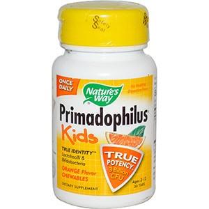 Примадофилус для детей в форме жевательных таблеток с апельсиновым вкусом