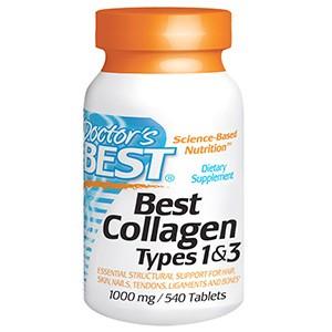 Doctor's Best, Коллаген, тип 1 и 3,1000 мг, 540 таблеток