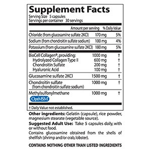 Doctor's Best, Глюкозамин, хондроитин и метилсульфонилметан (MSM) с гиалуроновой кислотой, 150 капсул