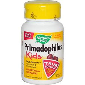 Примадофилус, для детей от 2 до 12 лет, в жевательном виде со вкусом вишни