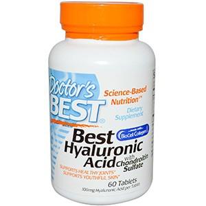 Doctor's Best, Лучшая гиалуроновая кислота с хондроитин сульфатом