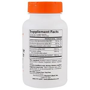 Doctor's Best, Глюкозамин + хондротин + MSM с OptiMSM, 120 капсул