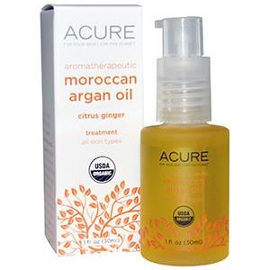 Acure Organics, Ароматерапевтическое марокканское масло арганы, цитрусовый имбирь, 30 мл