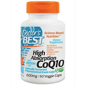 Doctor's Best, Легкоусвояемый коэнзим Q10, с биоперином, 600 мг, 60 капсул