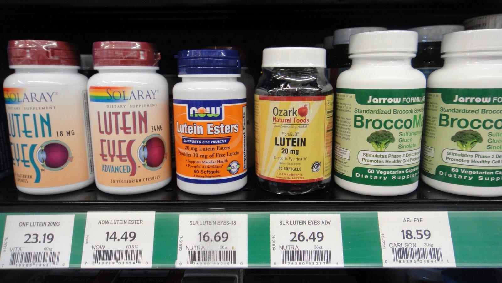 препараты для глаз в магазине