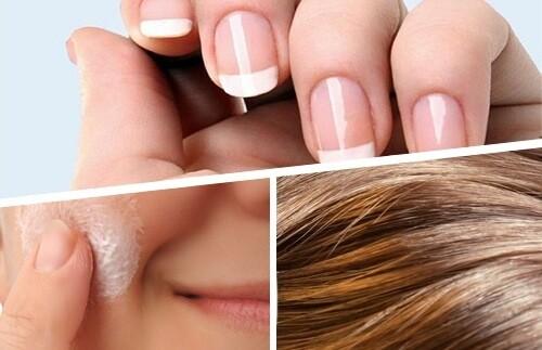 ногти, кожа, волосы