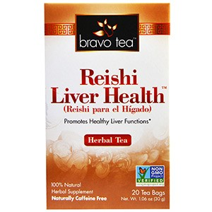 Bravo Teas & Herbs, Inc., Травяной чай для здоровья печени с рейши, 20 пакетиков, 30 г.