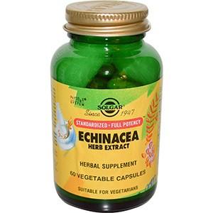 Solgar, Растительный экстракт эхинацеи, 60 капсул
