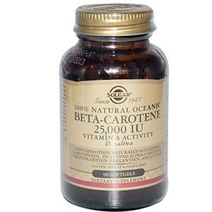 Solgar, Бета-каротин (Beta-Carotene), 25 000 МЕ, 90 капсул
