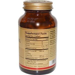 Solgar, Масло вечерней примулы, 1300 мг, 60 мягких капсул