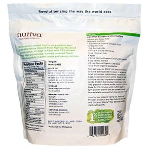 Nutiva, Органическая кокосовая мука, безглютеновая, 454 г