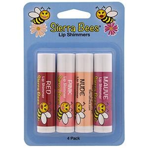 Sierra Bees, Тонированные бальзамы для губ, 4 оттенка
