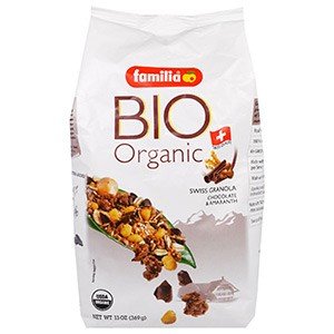 Familia, Bio Organic, Швейцарская Гранола, Шоколад и Амарант, 369 г