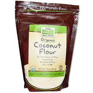 Now Foods, Органическая кокосовая мука, 454 г