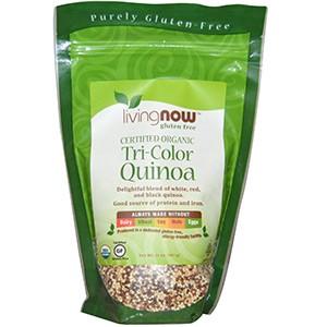 Now Foods, Сертифицированная органика, Трехцветная киноа, 397 г