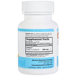 Advance Physician Formulas, Inc., Индол-3-карбинол, 200 мг, 60 капсул