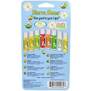 Sierra Bees, Натуральные бальзамы для губ, 8 бальзамов