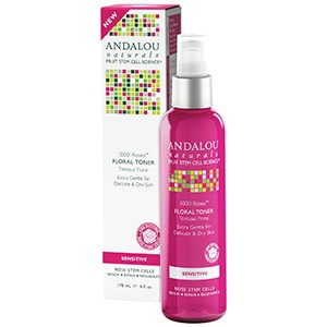 Andalou Naturals, Цветочный тоник для чувствительной кожи лица, 1000 роз, 178 мл