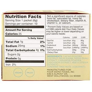 Four Sigmatic, XOCO Blue, какао-напиток с грибами рейши, сладкая корица, 10 пакетиков, 6 г каждый