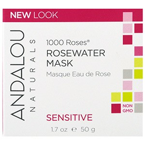 Andalou Naturals, 1000 роз, маски из розовой воды, для чувствительной кожи