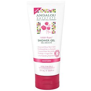 Andalou Naturals, Успокаивающий гель для душа, 1000 роз, успокаивающий, 251 мл