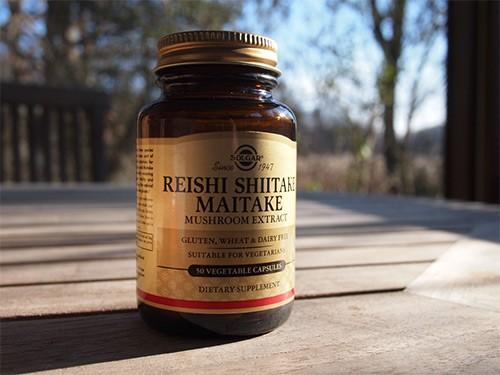 solgar экстракт грибов рейши, шиитаке и мейтаке