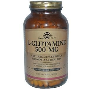 Solgar, L-глютамин, 500 мг, 250 капсул