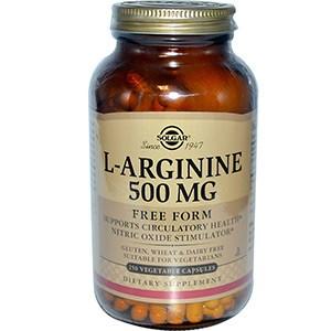 Solgar, L-аргинин, 500 мг, 250 капсул