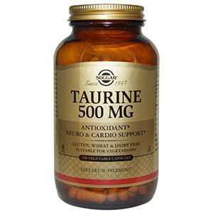 Solgar, Таурин, 500 мг, 250 капсул
