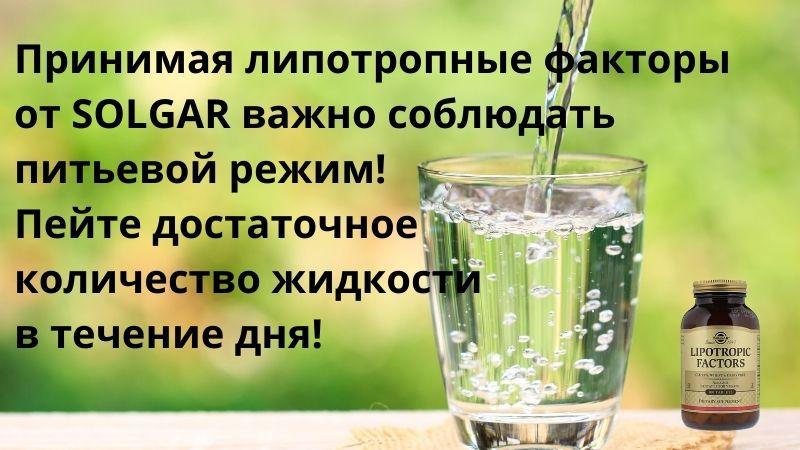липотропные факторы и питьевой режим