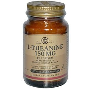Solgar, L-теанин, свободная форма, 150 мг, 60 капсул