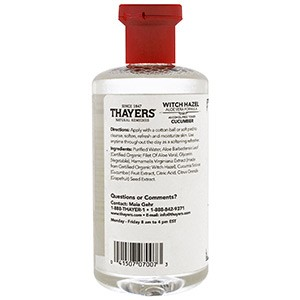 Thayers, Гамамелис, формула с алоэ вера, тоник не содержащий спирта, лаванда, 355 мл
