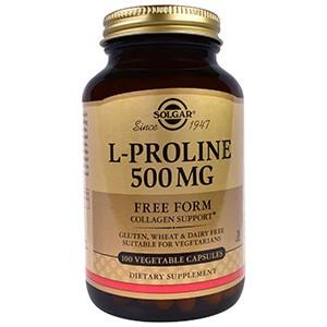 Solgar, L-пролин, 500 мг, 100 капсул