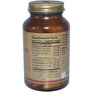 Solgar, Комплекс незаменимых аминокислот, 90 капсул