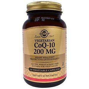 Solgar, Коэнзим Q-10, 200 мг, 60 капсул