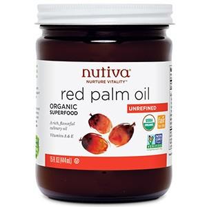 Nutiva, Органическое красное пальмовое масло, нерафинированное, 444 мл