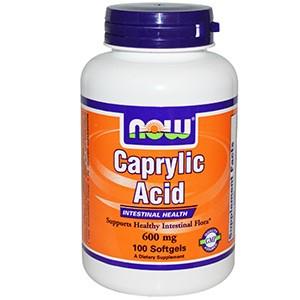 Now Foods, Каприловая кислота, 600 mg, 100 капсул