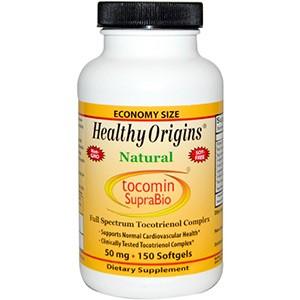 Healthy Origins, Tocomin SupraBio, концентрат красного пальмового масла, 50 мг, 150 жевательных капсул