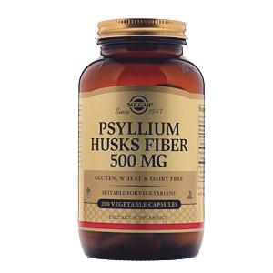 Solgar, Клетчатка кожицы подорожника, 500 мг, 200 капсул